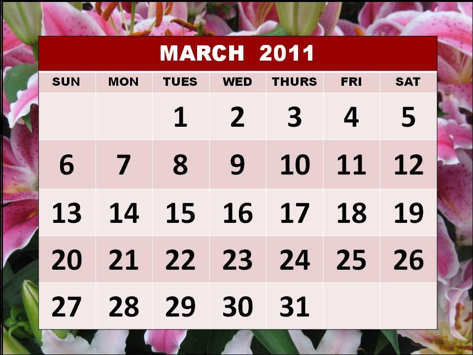 march calendar 2011 holidays. also March+calendar+2011