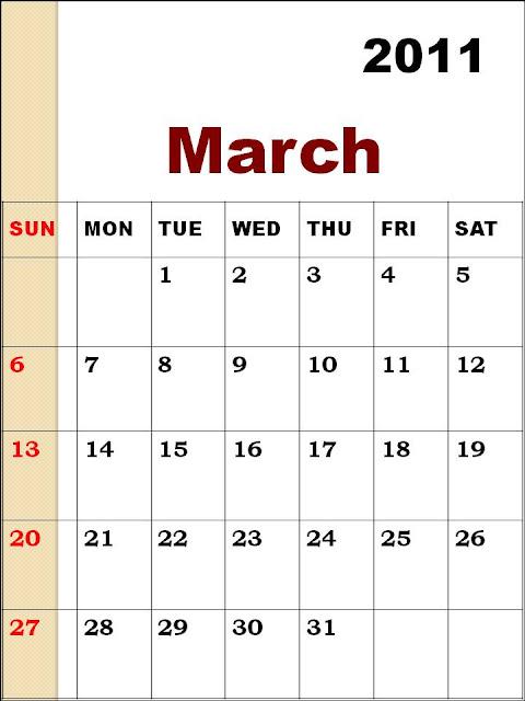 blank calendar 2011 australia. Blank Calendar 2011 March