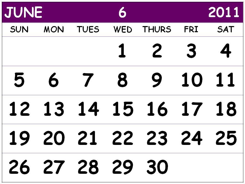 june 2011 calendar printable. june 2011 printable calendar.