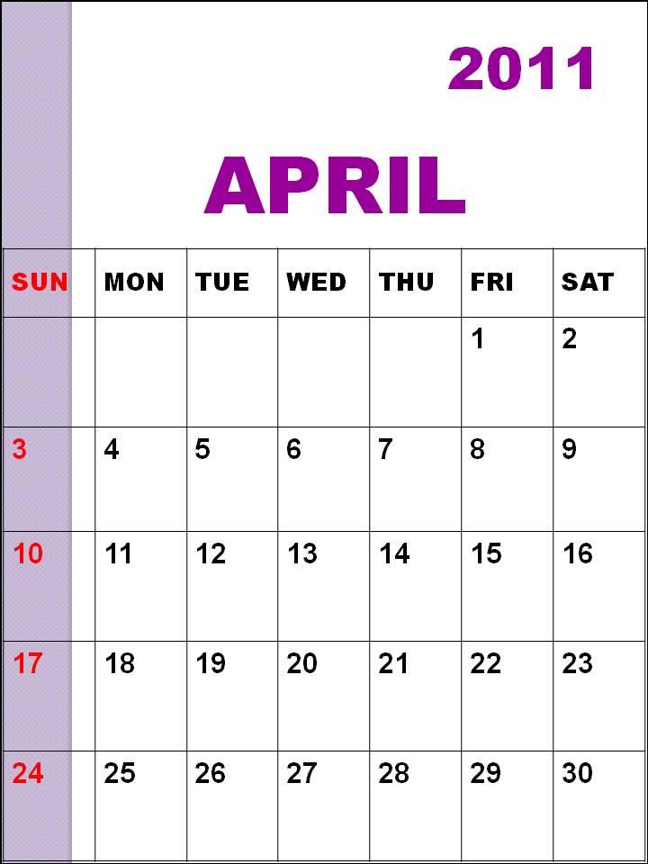 Calendar April 2011 : Piper perabo gallery printable monthly calendar april
