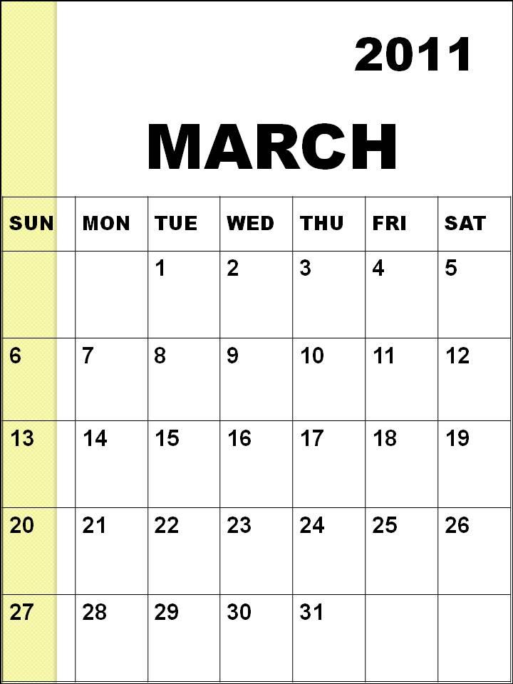 calendar 2011 template march. blank calendar template march.