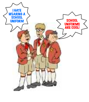 the disadvantages to wear uniform Wearing a school uniform doesn't help us learn uniforms may work for police officers  the bradford kids should wear what they want.