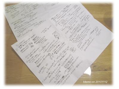 今回の勉強会のメモです。久しぶり。