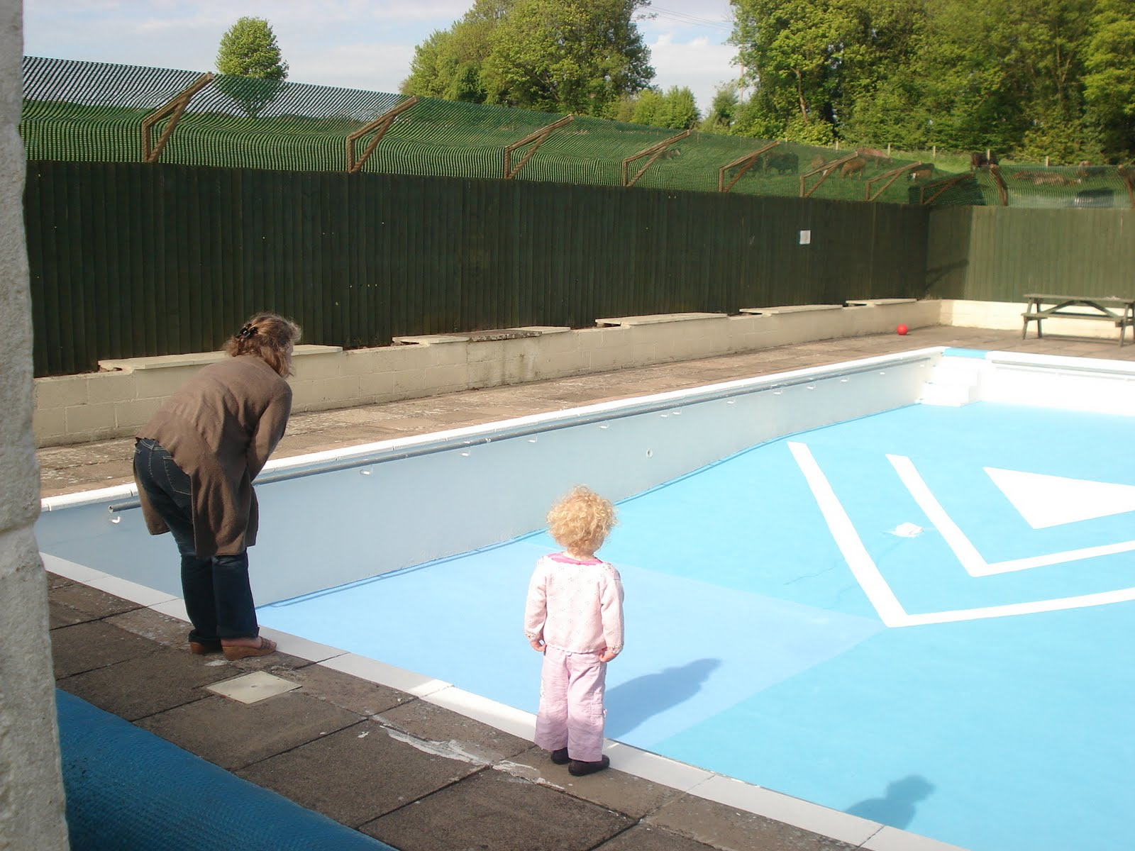 Swimming Pool Painters : Friends of northleach swimming pool painting the blue