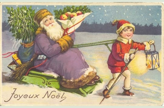 Etsy vintage team postcards from france ix french christmas cards