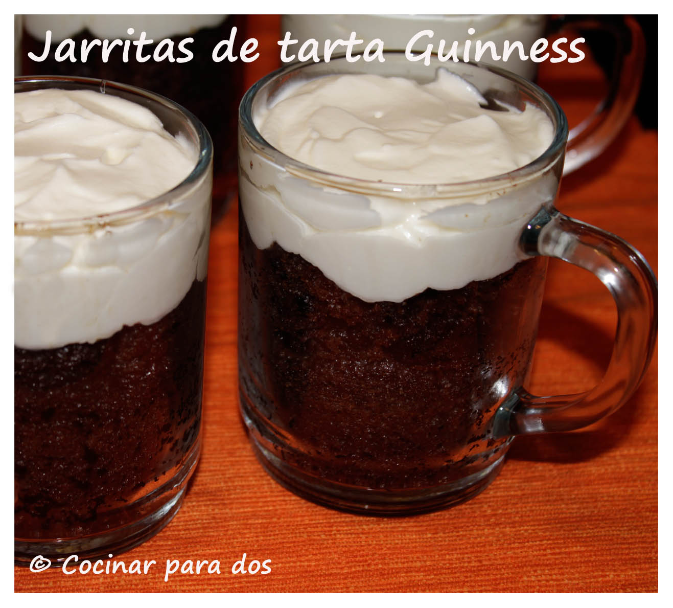 Jarritas de tarta guinness cocinar para 2 - Bizcocho microondas isasaweis ...