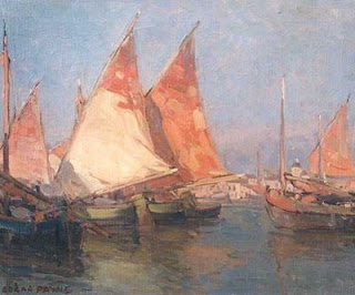 Any Two Colors Appearing As Opposites On The Wheel Edgar Payne Uses A Complementary Of Reddish Orange And Greenish Blue Scheme In This Sailboat Painting