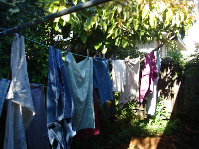 clothes on line, but not online