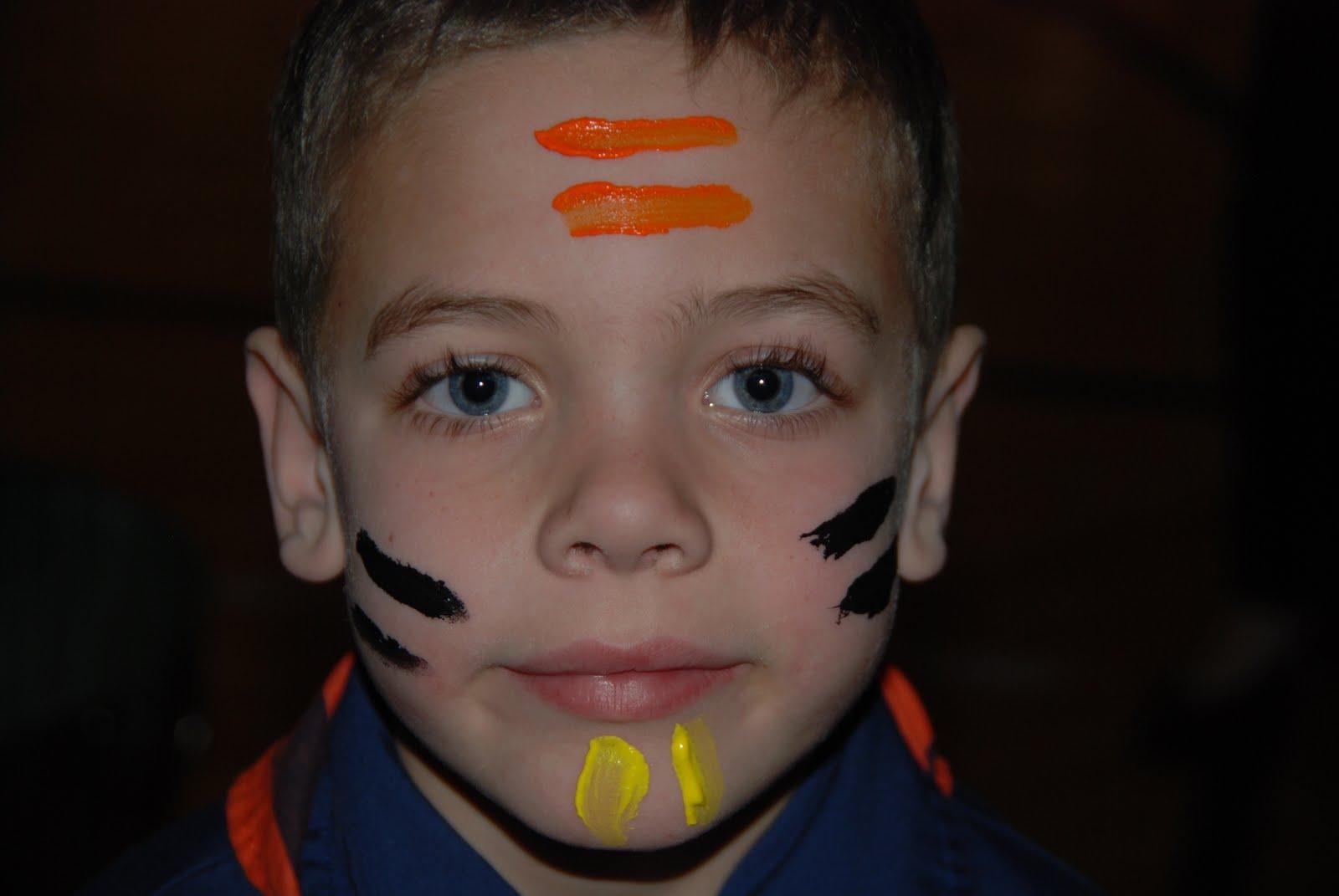 Bobcat Badge Face Paint Ceremony