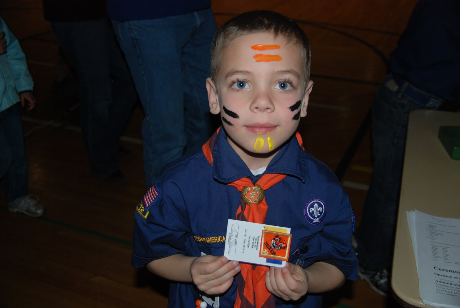 Cub Scout Bobcat Ceremony Face Painting