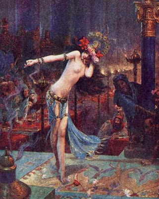 ... sometimes mythological or oriental but mostly as exotic dancers.