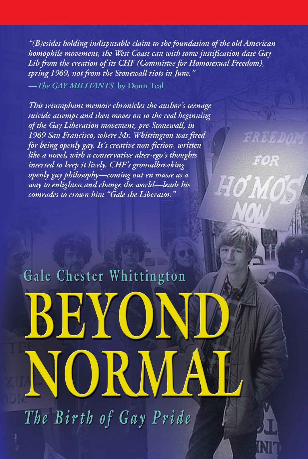 Groundbreaking Memoir by Gale Chester Whittington: TRUE BEGINNING OF GAY ...