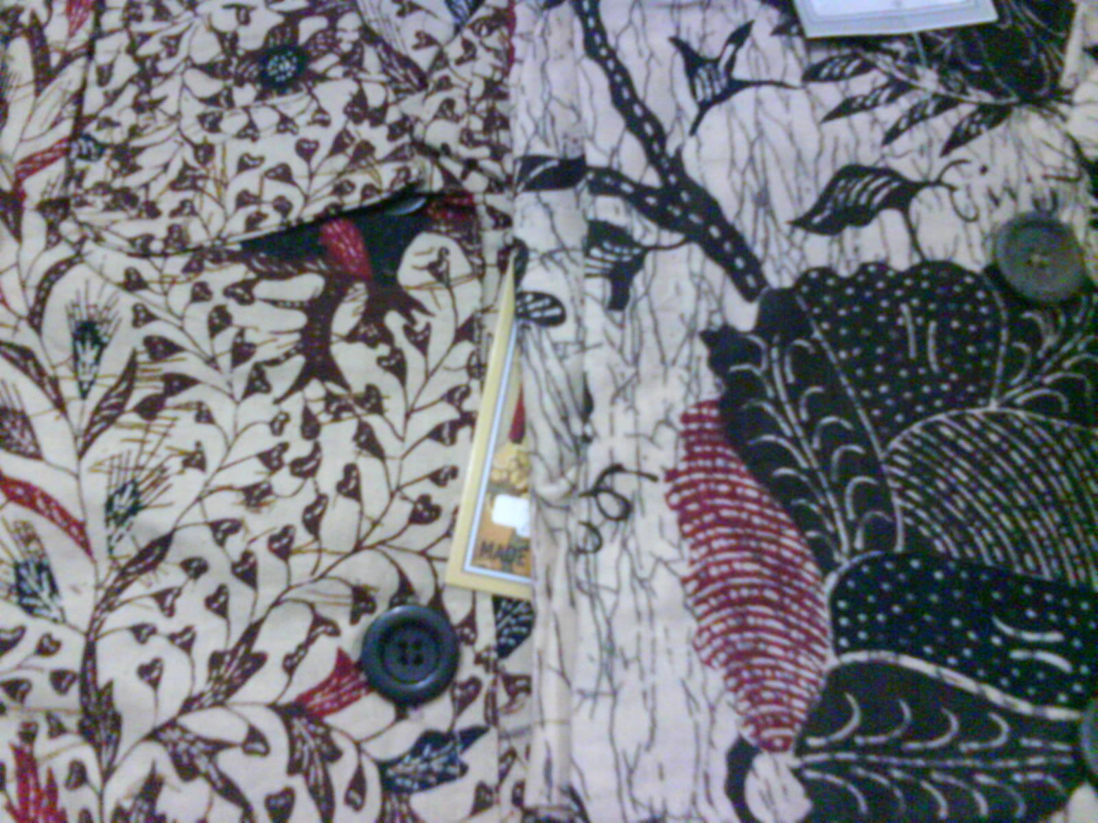 Batik kantong, Ldd50,pjgbj80, rp.70ribu Variasi: saku samping, kancing ...