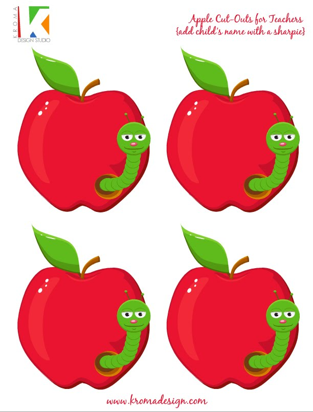 Free Printable Apple Cut Outs Red Apple Template