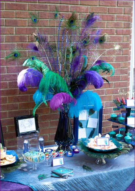 Wedding Wednesday A Peacock Engagement Party Kroma Design Studio Today