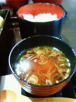 七穀米とお味噌汁