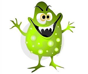 cartoon virus germ bacteria thumb3234482 Cara Mudah dan Sederhana Membuat Virus Jahil