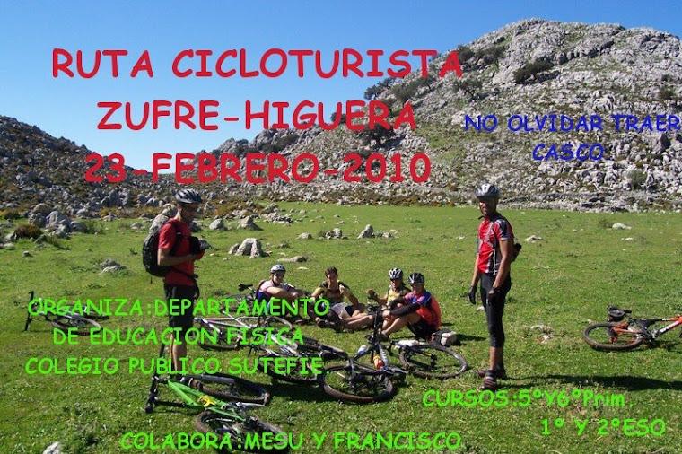 I Ruta cicloturista Zufre - Higuera