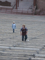 The Wild Boys run the Red Rocks stairs