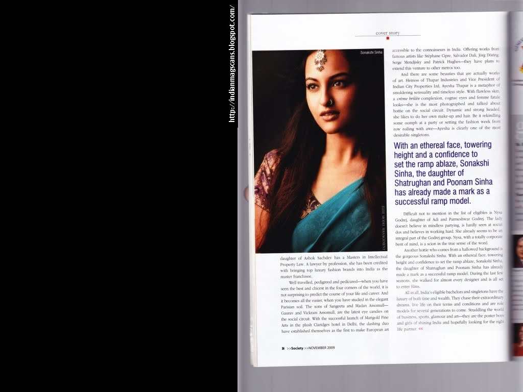 Indian Mag Scans Society 20091101 Scan03 Sonakshi Sinha