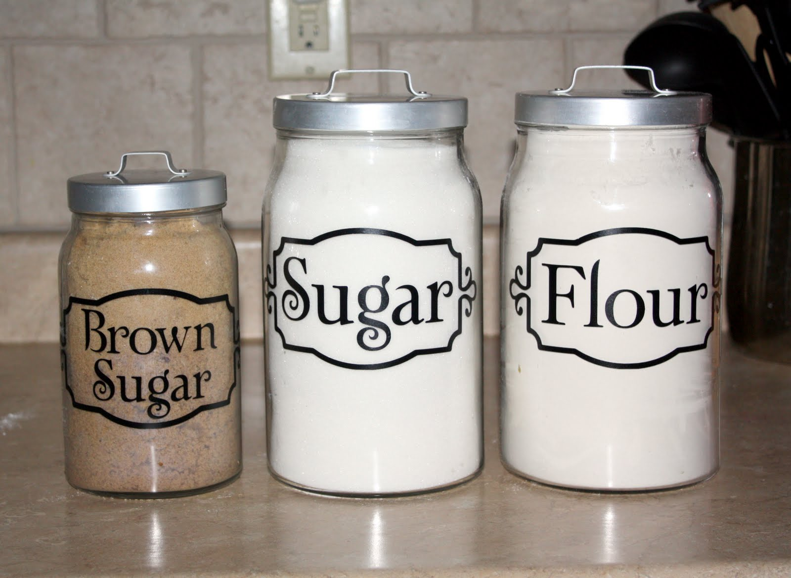 everything vinyl kitchen canister labels best 25 kitchen canisters ideas on pinterest