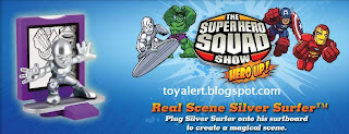 Burger King Superhero Squad Toys - Real Scene Silver Surfer toy