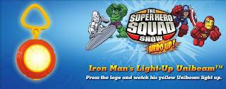 Burger King Superhero Squad Toys - Iron Man Light Up Unibeam toy