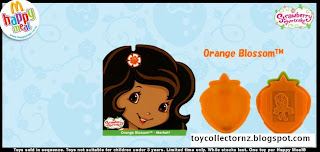 McDonalds Strawberry Shortcake Happy Meal Toys 2010 - New Zealand and Australia release - Orange Blossom stamper and book