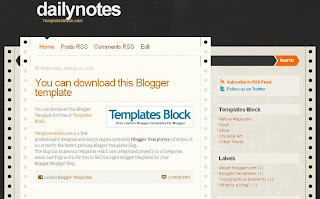 Daily Notes - Free Blogger Template