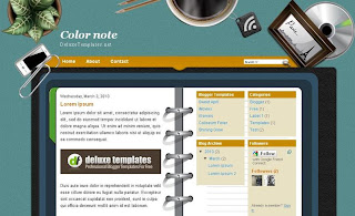 Color Note - Free Blogger Template