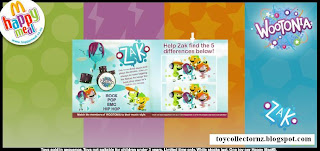 McDonalds Toys Wootonia 2010 - Zak and Music Clip Bounce - Detail of Inside Cover