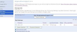 Google Webmaster Tools Sitemaps