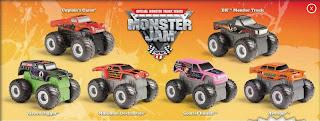 Burger King Monster Jam Trucks 2009