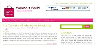 Free Blogger Template - Shopping Bag  - 3 columns, 2 right sidebars, pink, white, girly theme, shopping theme