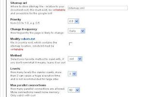 JCrawler Sitemap Page