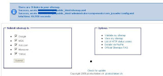 JCrawler Sitemap Success Page
