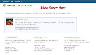 MSN Webmaster Center