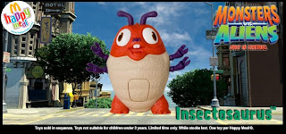 McDonalds Monsters vs Aliens Happy Meal Toys 2009 - Insectosaurus