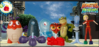 McDonalds Monsters vs Aliens Happy Meal Toys 2009
