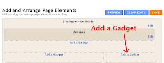 Add a Gadget to Blogger Sidebar