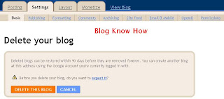 How to Delete a Blogger Blog