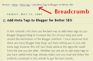 Add Breadcrumb Navigation to Blogspot Blogger blog for Better SEO