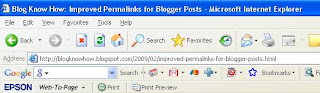Optimize Blogger Blogspot Blog Permalinks