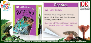 McDonalds DK Eye Wonder Books Promotion 2009 - Reptiles