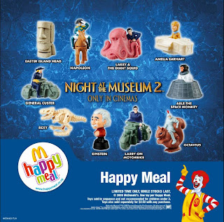 Night at the Museum 2 Happy Meal Toys from McDonalds 2009