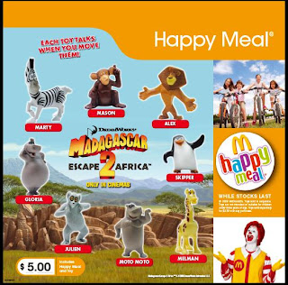 McDonalds Madagascar Escape 2 Africa 2008 toys