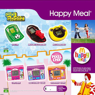 McDonalds Digi Sportz and Pixel Chix are being given away in happy meals at McDonalds in the early part of May 2009