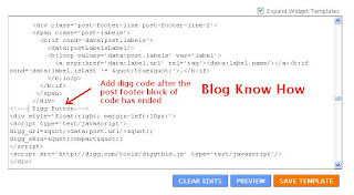 Add Digg button after labels in post footer