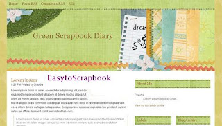 Green Scrapbook Diary - Free Blogger Template theme