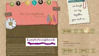 MyScrapblog - Free Blogger Template theme